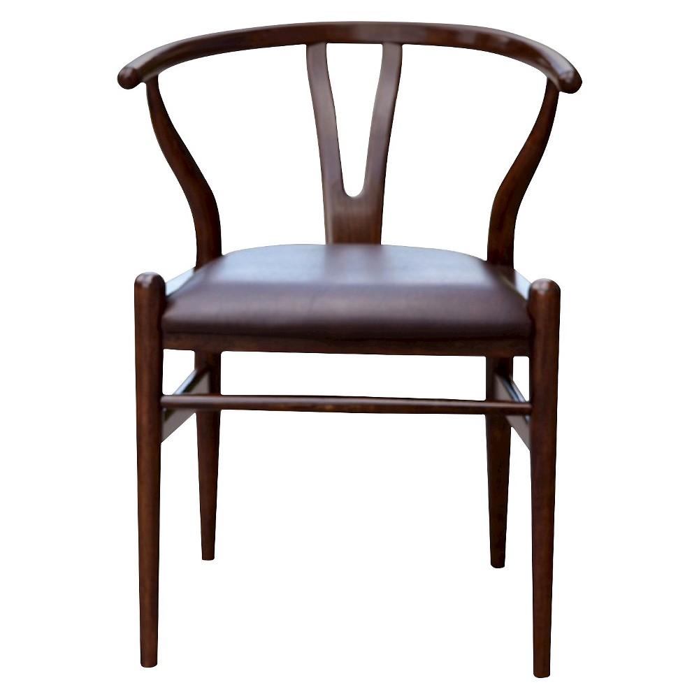 Wishbone Dining Chair Wood/Cappuccino - Boraam