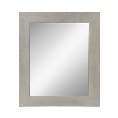 "30"" x 36"" Garvey Wood Framed Wall Mirror Gray - Kate and Laurel"
