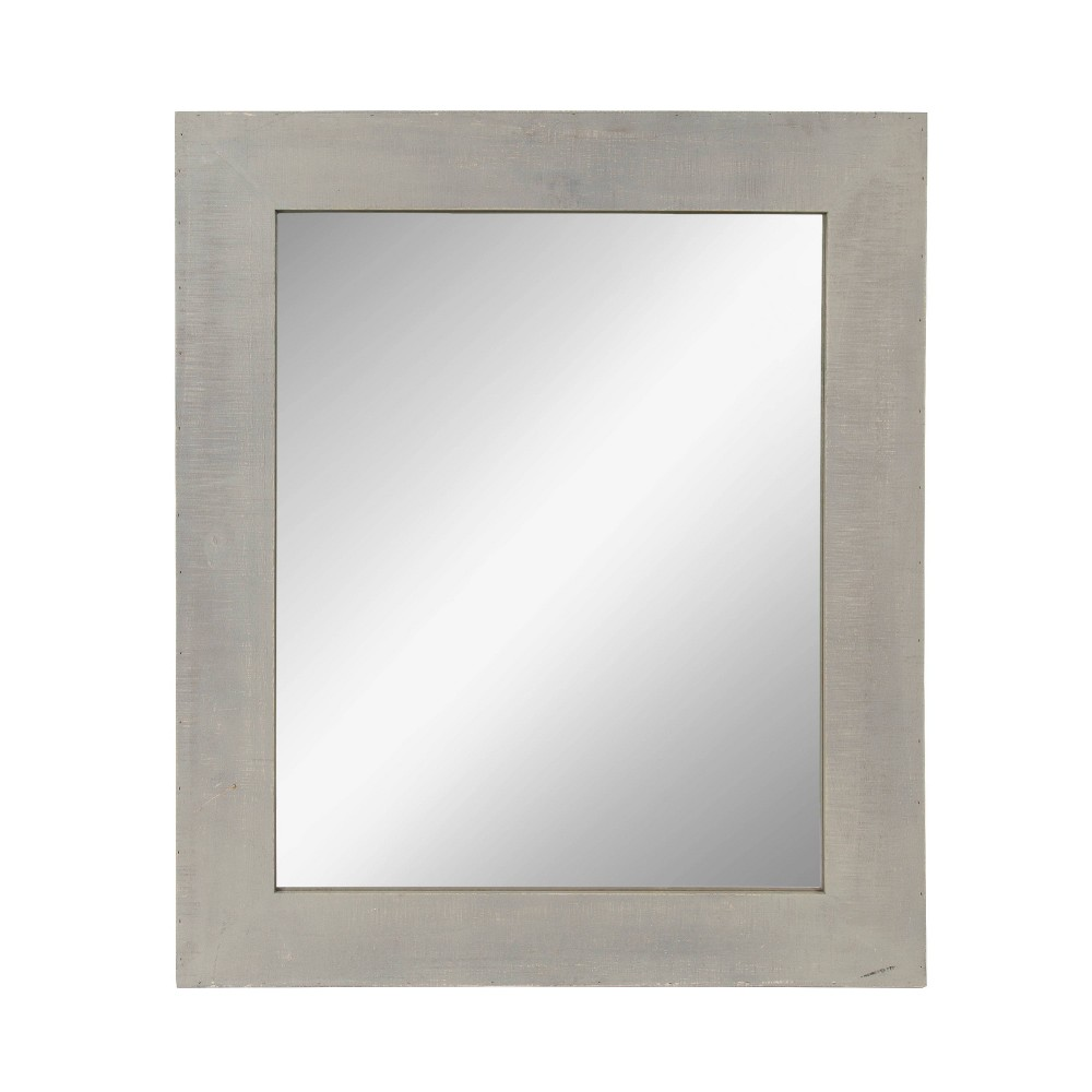 """Image of """"36""""""""x30"""""""" Garvey Wood Framed Wall Mirror Gray - Kate and Laurel"""""""