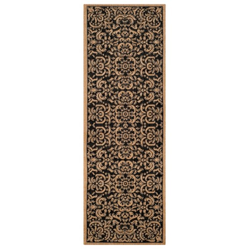 Durrant Outdoor Rug - Black / Natural - Safavieh® - image 1 of 1