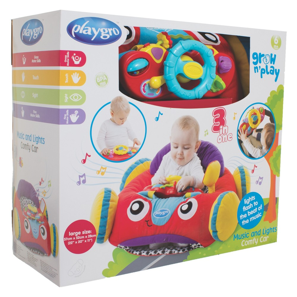 Playgro Music And Lights Comfy Car, Multi-Colored