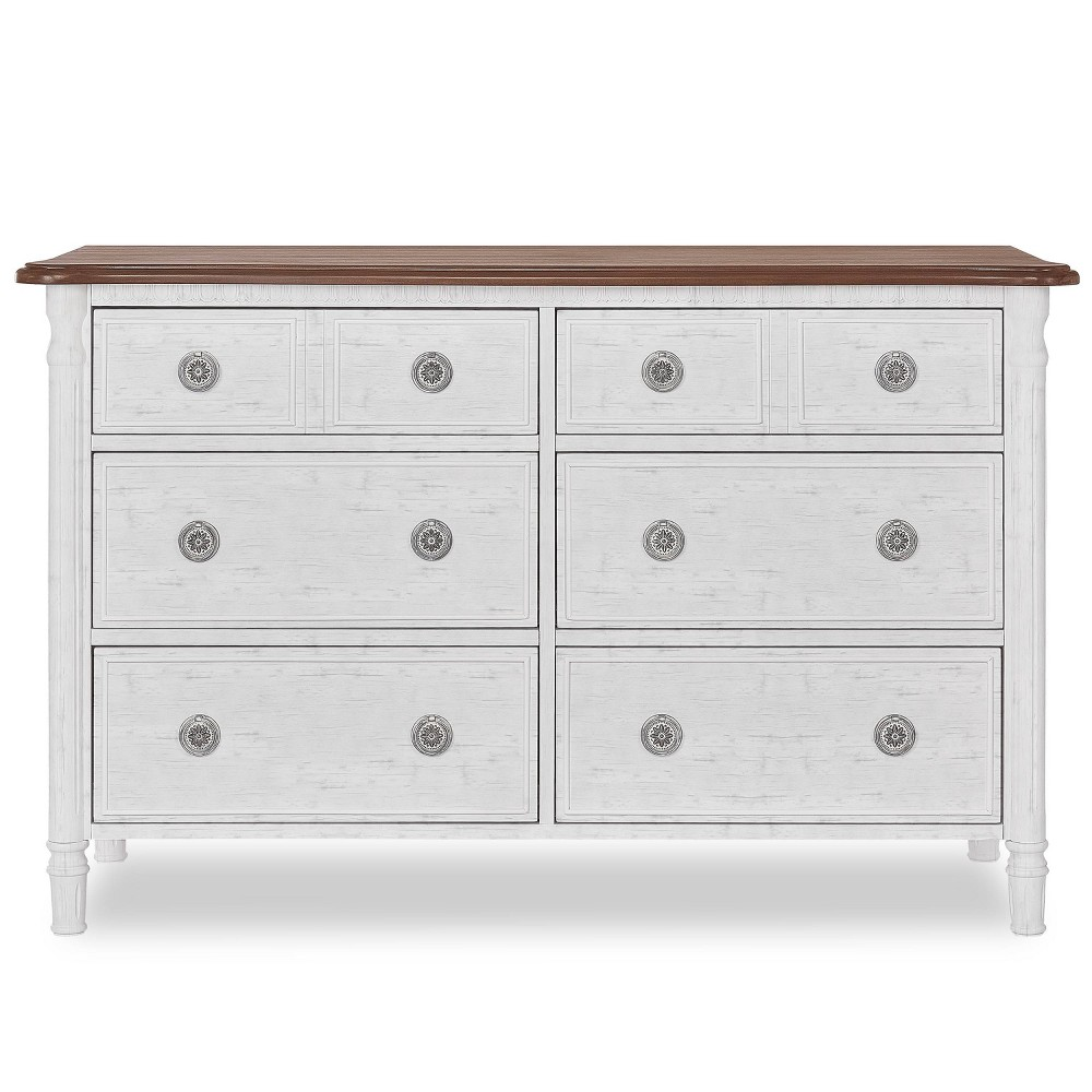 Image of Evolur Julienne 6 Double Dresser - Brush White and Toffee