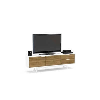 "70"" Fairfield Tv Stand White and Walnut - Chique"