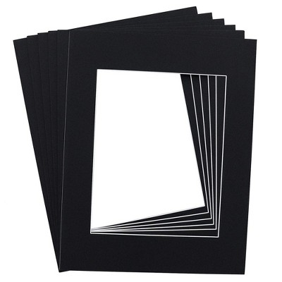Genie Crafts 15-Pack Black 11 x 14 Inch Picture Matted Frames Boards Picture Frames for 8x10 Photos