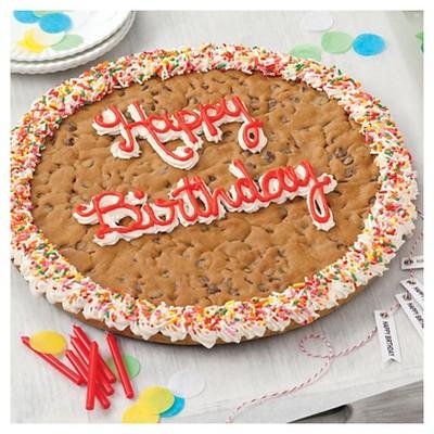 Awe Inspiring Mrs Fields Happy Birthday Chocolate Chip Cookie Cake 4Lbs Target Personalised Birthday Cards Veneteletsinfo