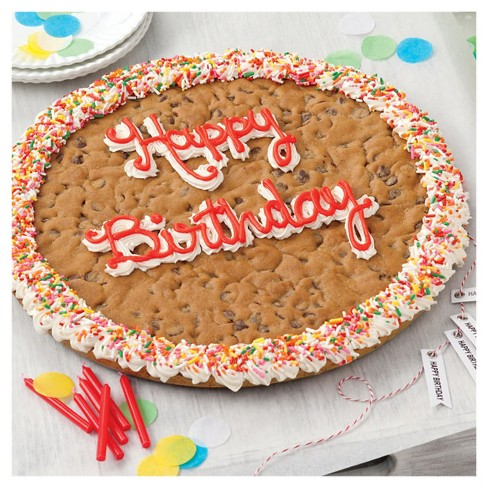 Mrs. Fields Happy Birthday Chocolate Chip Cookie Cake - 4lbs - image 1 of 2