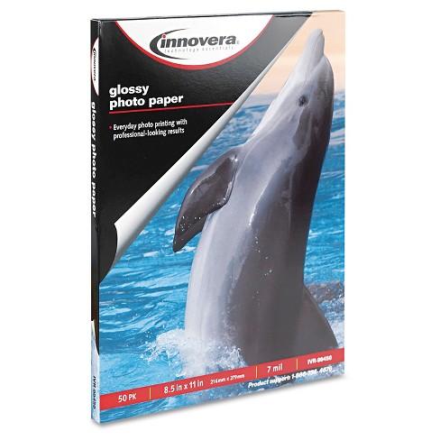 Innovera 8 12 X 11 Glossy Photo Paper 50 Sheetspack Target