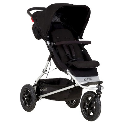 Mountain Buggy Plus One Inline Double Stroller -Black