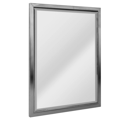 "24"" x 30"" Classic Brushed Mirror Nickel/Chrome - Head West"