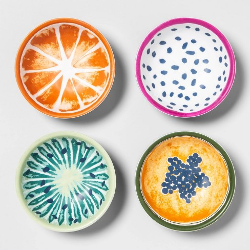 5.5oz 4pk Melamine Fruit Print Dip Bowls - Opalhouse™ - image 1 of 4