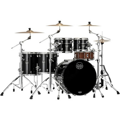 Mapex Saturn Evolution Workhorse Birch 5-Piece Shell Pack with 22 in. Bass Drum Piano Black