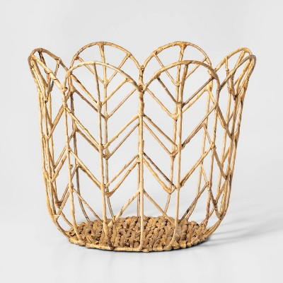 Large Tulip Shaped Woven Basket - Pillowfort™