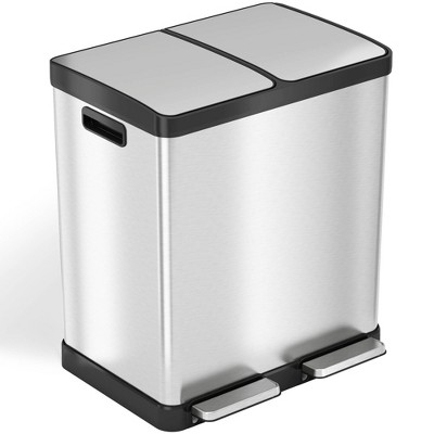 halo quality 16gal Premium SoftStep Stainless Steel Step Trash Can