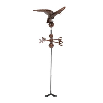 Northlight 3' Polished Eagle Outdoor Garden Weathervane - Chocolate Brown