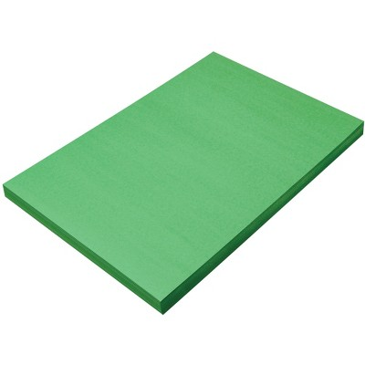 SunWorks Heavyweight Construction Paper, 12 x 18 Inches, Holiday Green, 100 Sheets