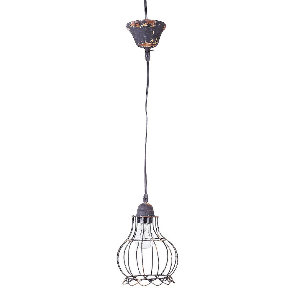 Wire Hanging Pendant Lamp - Gray