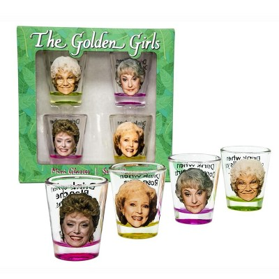 Just Funky The Golden Girls Shot Glasses Set of 4