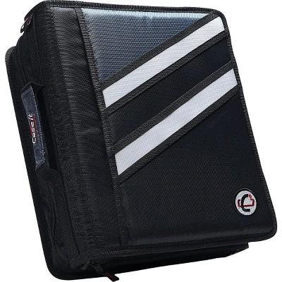 Case it Z-176 1 1/2 Black 2-in-1 Zipper Binder
