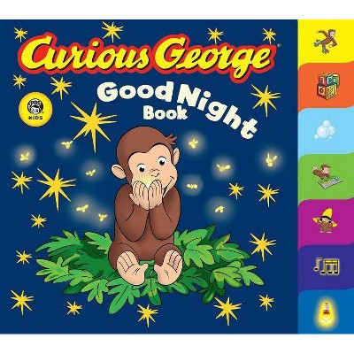 Curious George Good Night Book (Cgtv Tabbed Board Book) - (Curious George Board Books) by  H A Rey