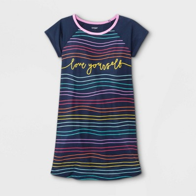 Girls' 'Love Yourself' Nightgown - Cat & Jack™ Navy