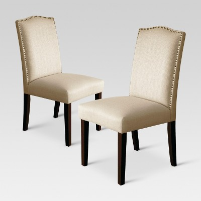 Camelot Nailhead Dining Chair - Natural (Set of 2)- Threshold™