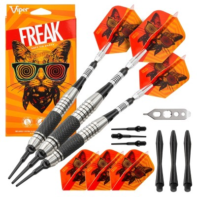 Viper The Freak 18 Grams Soft Tip Darts Knurled And Grooved Barrel Target