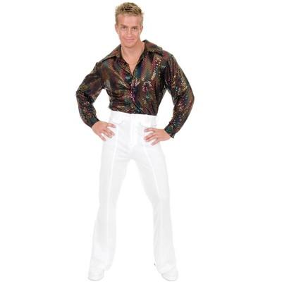 Charades Mens Sequin Disco Shirt