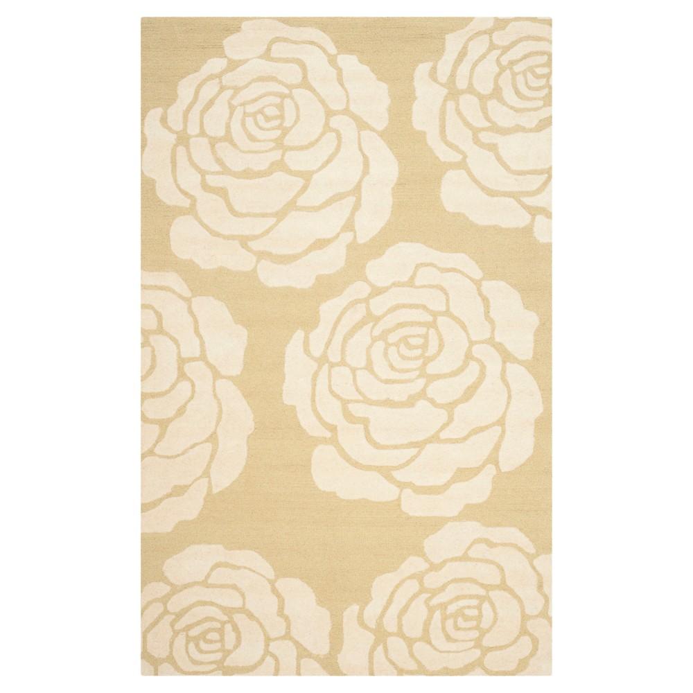 Safavieh Connor Area Rug - Light Gold / Ivory ( 6' X 9' ), Light Gold/Ivory
