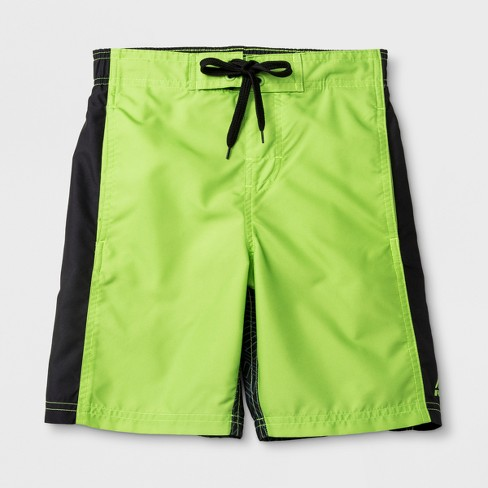 RBX Boys' Sliced Swim Trunks - Green/Black - image 1 of 3