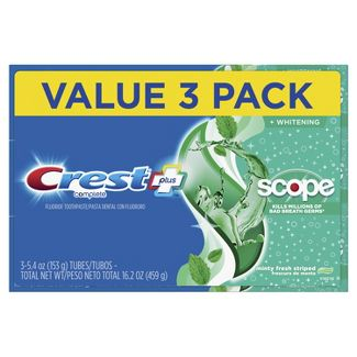 Crest + Scope Complete Whitening Toothpaste Minty Fresh - 16.2oz/3pk