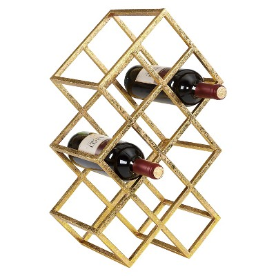 Danya B™ Sparkling 9 Wine Bottle Rack Gold