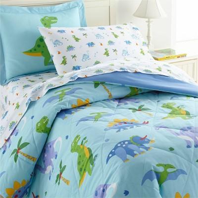 7pc Full Dinosaur Land Cotton Bed in a Bag - WildKin
