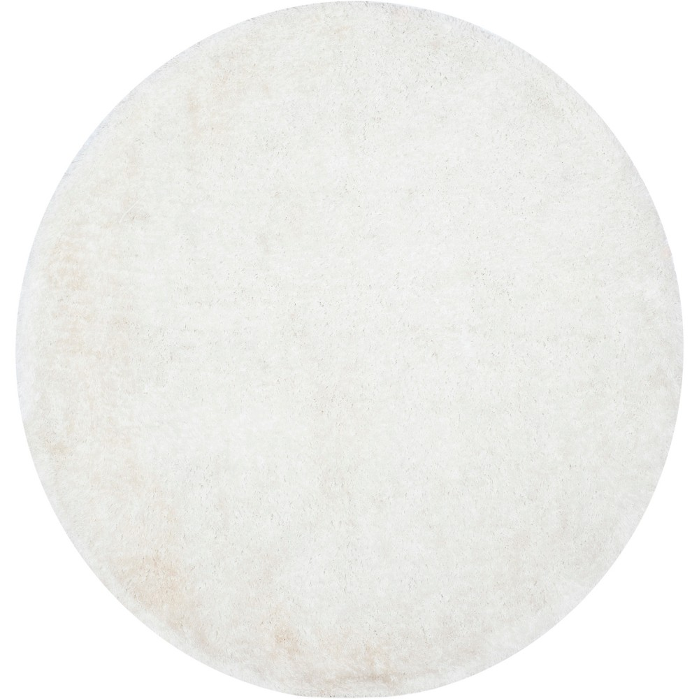 6 Solid Tufted Round Area Rug Light Gray - Safavieh Top