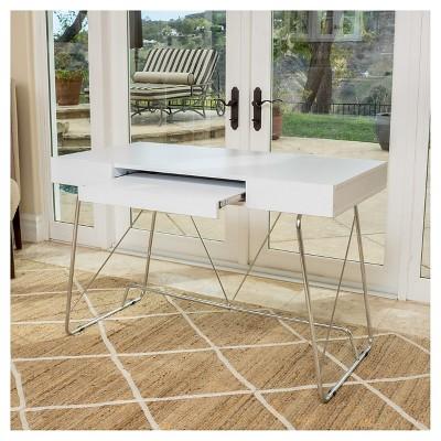 Charmant Heinrik Wood Computer Desk W/ Keyboard Tray White   Christopher Knight Home
