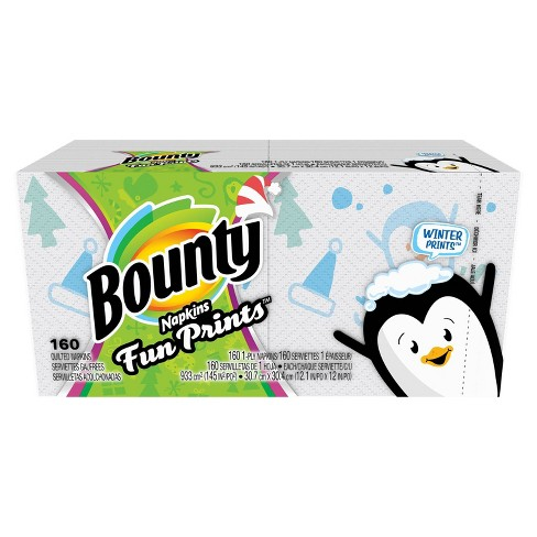 Bounty Quilted Napkins Select Prints - 160ct - image 1 of 5