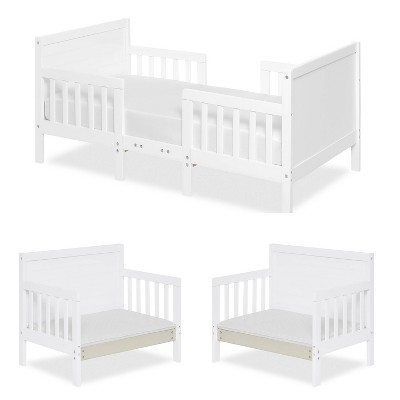 Dream On Me Hudson 3-in-1 Convertible Toddler Bed - White