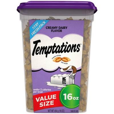 Temptations Creamy Dairy Flavor Crunchy Cat Treats