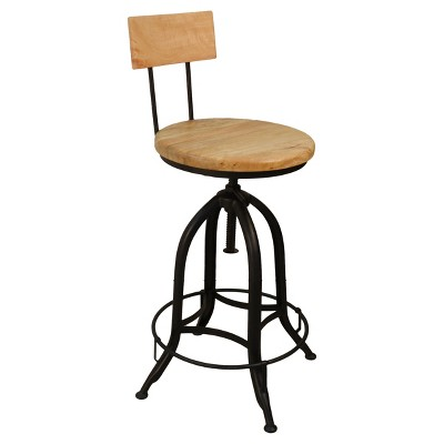 Bon Wren Adjustable Stool W/ Back   Carolina Chair And Table