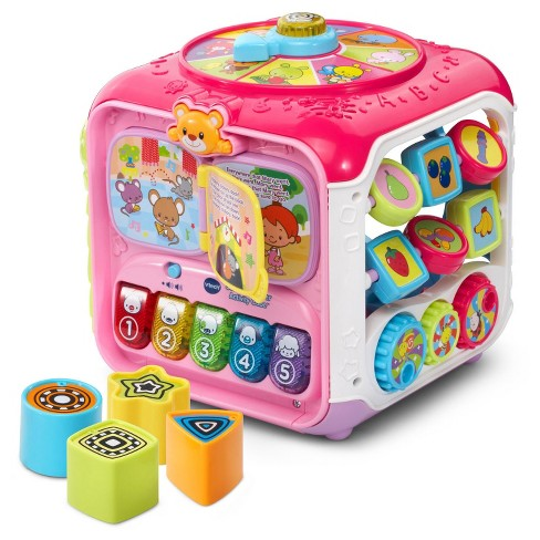 VTech® Sort & Discover Activity Cube - Pink - image 1 of 6
