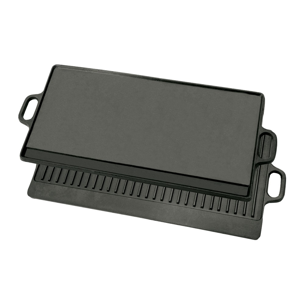 Image of Bayou Classic Cast Iron 28in Reversible Griddle, Black