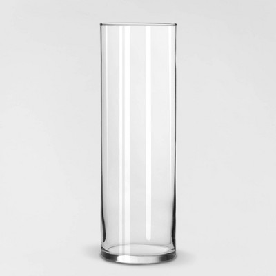 "9.5"" x 3.3"" Decorative Cylinder Vase Clear - Threshold™"