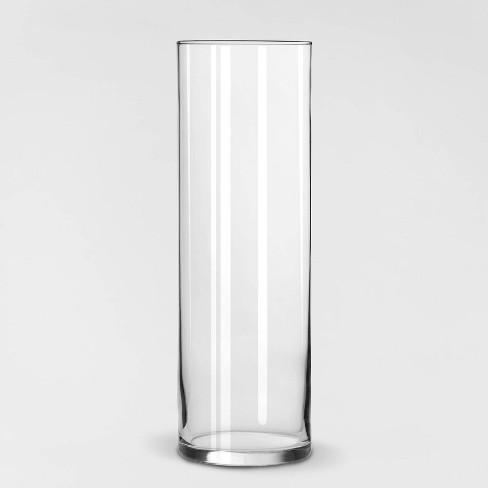 "9.5"" x 3.3"" Decorative Cylinder Vase Clear - Threshold™ - image 1 of 2"