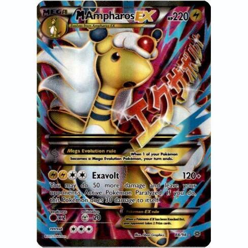 Pokemon X and Y Ancient Origins Ultra Rare Full Art M Ampharos EX #88 - image 1 of 1