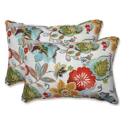 Outdoor/Indoor Alatriste Ivory Over-Sized Rectangular Throw Pillow Set of 2 - Pillow Perfect