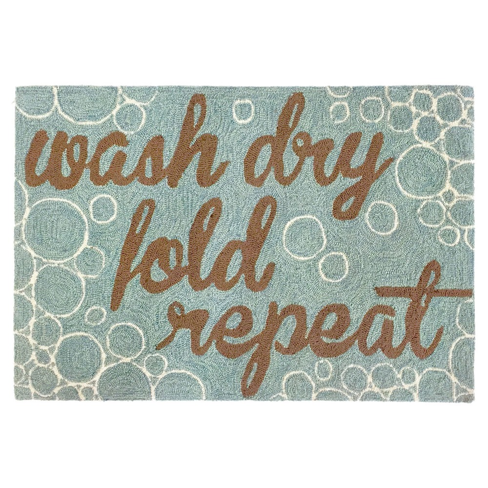 Frontporch Indoor/Outdoor Wash...And Repeat Aqua Rug 20