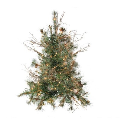 Northlight 2' Pre-Lit Artificial Christmas Tree Wall Country Mixed Pine - Clear Lights