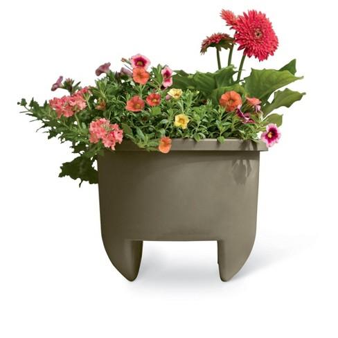 Home Dek-Decor 12 Inch Planter for 6 Inch Railing - Gardener's Supply Company - image 1 of 2