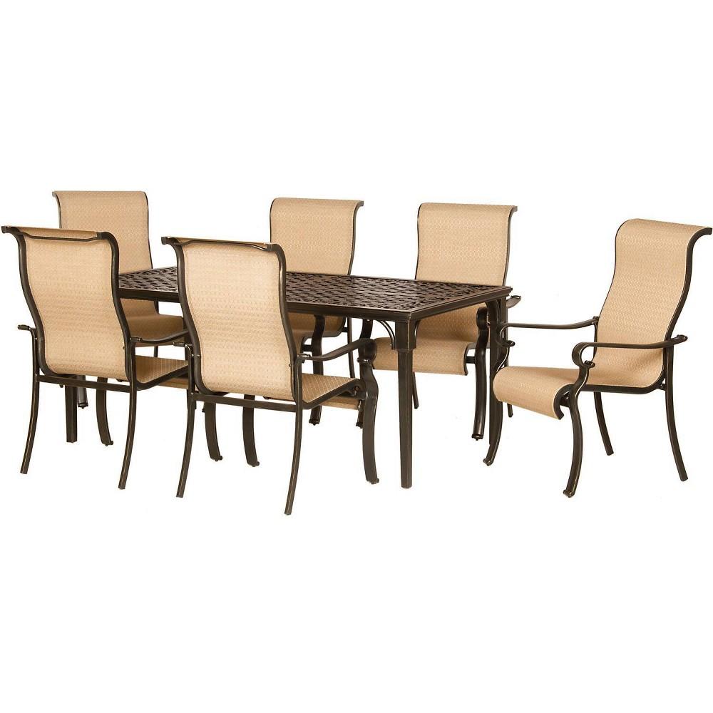 Image of Brigantine 7pc Aluminum Dining Set - Hanover