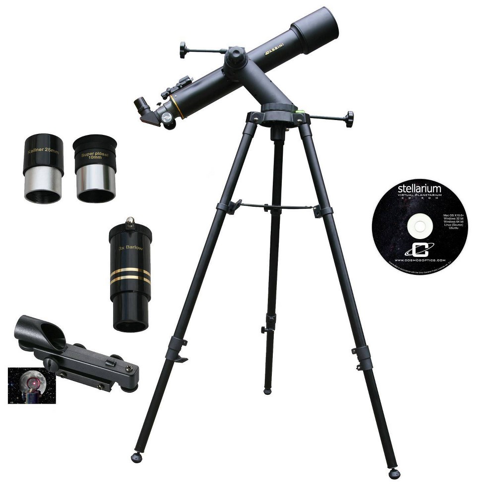 Image of Cassini C-60090TR 600mm x 90mm Tracker Series Astro Refractor Telescope - Black