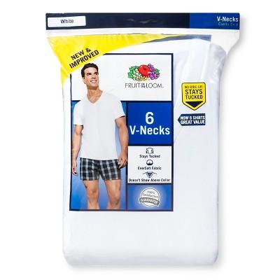 Fruit of the Loom ® - Men's 6pk V-Neck White L